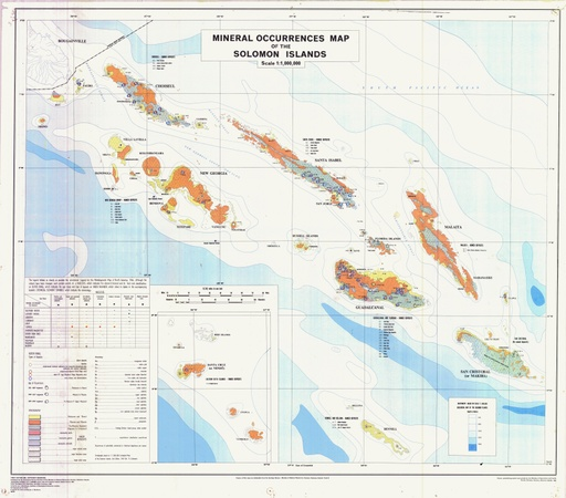 2008 Mineral Occurrences Map of the Solomon Islands
